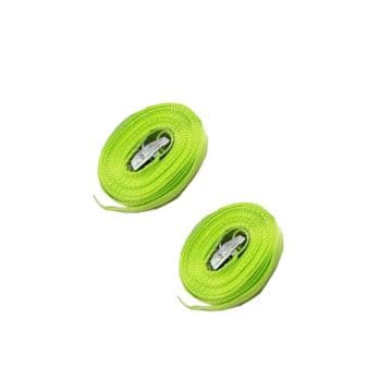 2 x 25mm x 5 metre x 450kg HIGH VISIBILITY CAMBUCKLE TIE DOWN STRAP trailer bike